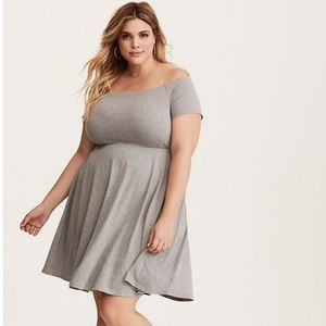 Torrid gray skater dress | size 00